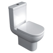 Studio Bathroom White Ceramic Close Coupled Toilet & Soft Close Toilet Seat