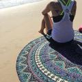 Popular Indian Mandala Round Roundie Beach Throw Tapestry Hippy Boho Gypsy Cotton Tablecloth Beach Towel , Round Yoga Mat By Popular Handicrafts, 180cm diameter