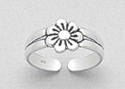 AG2AU Sterling Silver Flower Toe Ring