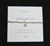A Little Superstar - Bracelet with Crystal Star - Silver plate Nickel Free Bracelet - Joma Jewellery with Gift bag