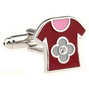 T-Shirt Novelty Gift Boxed Wedding Cufflinks Cuff Links For Groom Perfect Gift