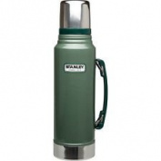 Stanley Classic Drinks Flask 1 Litre Stainless Steel Green 1l Thermos
