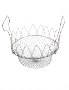 Yantu 12 in 1 Foldable Stainless Steel Chef Basket Deep Fry/steamer Steam, Fry, Boil Kitchen Cooking Tool