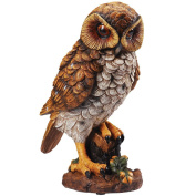 Motion Activated Hooting Owl Decor Shining Eyes Light Up & Hoots