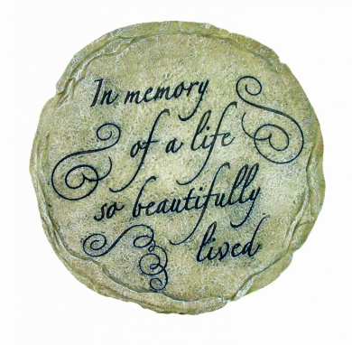 Spoontiques In Memory of Life Stepping Stone
