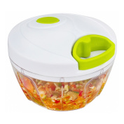 Forepin® Manual Food Chopper With Bowl Compact & Powerful Hand Held Vegetable Chopper / Mincer / Blender Salad Maker for Fruits, Nuts, Herbs, Onions, Garlics