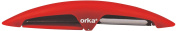 Orka OE110101 Peeler with 2-in - 1 Stainless Steel/ABS Red 15.7 x 2.5 x 2.3 cm
