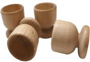 Beech wooden eggs cups set