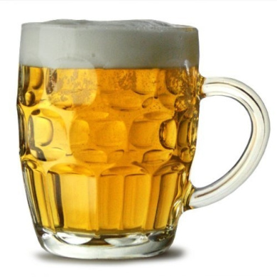 Traditional Glass Pint Tankards CE - Set of 2   Also known as Dimpled Beer Tankard, Britannia Pint Mug, Beer Stein, Beer Mug