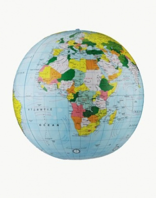 Replogle Globes Inflatable Political Globe, Light Blue Ocean, 41cm Diameter Size: 41cm Diameter