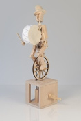 Unicyclist- Timberkits Self-Assembly Wooden Construction Automaton Moving Model Kit