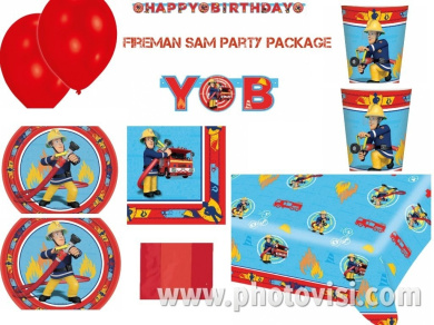 Kids Fireman Sam Birthday Party Package for Boys & Girls Decorations, Tableware & Accessories