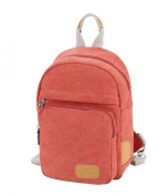 Fansela(TM) Womens Causal Solid Canvas Backpack Chest Pack Pink
