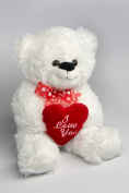 """My Home Plush Teddy with """"I Love you"""" approx. 36 CM"""