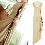 Gathered Long Sleeveless Dress