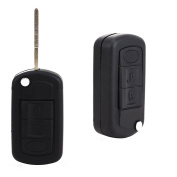 Flip 3 BUTTON REMOTE KEY FOB CASE for RANGE ROVER Sport Land Rover Discovery