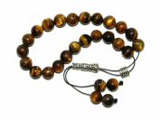 A1-0898 - Greek Style Loose Strung Worry Beads 10mm Tiger Eye Gemstone Beads Handmade by Jeannieparnell