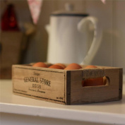 SHABBY CHIC WOOD EGG CRATE