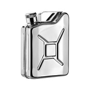SAVAGE 180ml 18/8 Stainless Steel Hip Flask Jerry Can Mirror Finished