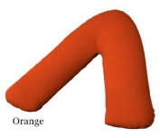 V Shaped Back support pillow with Free Orange Colour Pillow Case
