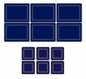 Pimpernel Classic Midnight Blue, 6 Placemats + 6 Coasters