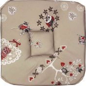 Couleur Montagne 35 mm Chair Pad Foam 4 Flaps Printed Polyester Chouetti Lin, Lin