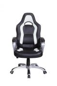 Brand New Designed Racing Sport Swivel Office chair in Black White Colour