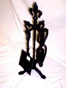 Fleur De Lys Black 50cm Companion Set
