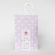 2 x Pink Polka Dot Wardrobe Fresheners made in Suffolk, England