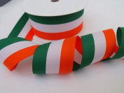 Always Knitting And Sewing 2 Metres Patriotic Tricolour Ribbon, 25mm