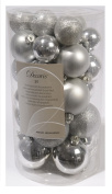 30 Silver Shatter-proof Christmas Tree Baubles