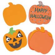 Halloween Pumpkin Foam Art & Craft Shapes for Children to Decorate and Display
