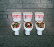 Halloween Toilet Seat Decorative Set for Party Decorations & Accessories