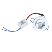 1W LED Downlight kit Recessed Ceiling Light Fixture + Driver---White