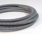 VINTAGE FABRIC LIGHTING CABLE | Black & White | 3 core