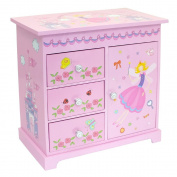"""""""Sarah"""" Pink Girls Musical Jewellery Box With Fairy Castle Images by Mele & Co."""