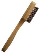 Wooden Handle Suede Brush Brass Bristle