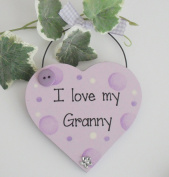 I love My Granny Wooden Keepsake Gift Heart