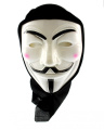 Zac's Alter Ego® V For Vendetta Anonymous Guy Fawkes Mask with Black Cloth to Cover Head