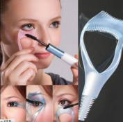 1 pink Eyelash Curler Mascara Guard Applicator Comb Brush Makeup Cosmetic Tool