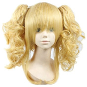 Weeck Anime Black Butler Elizabeth Clip on Ponytail Curly Cosplay Wigs
