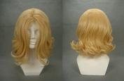 Weeck Anime Hetalia Fantasia Golden Curly Cosplay Wigs