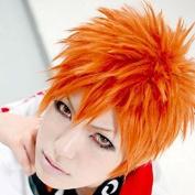 Weeck Anime Bleach Kurosaki Ichigo Orange Short Cosplay Wigs