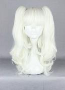 Weeck Long Girl's Wave Lolita Ponytail White Curly Anime Harajuku Cosplay Wigs