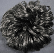 LACEY 7.6cm Pony Fastener Hair Scrunchie - 44 Off Black with 50% Grey