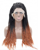 Sylvia Two Tone Braid African American Synthetic Lace Front Wig