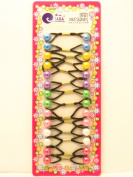 Tara Girls Twinbead Assorted Solid Ponytail Holders - 14 Pcs.