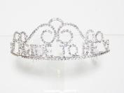"Rhinestone ""Bride to Be"" Tiara Hair Bridal Accessories Jewellery"