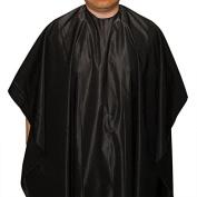 Hair Beauty Salon Barber Colouring Hairdressing Gown Hair Cut Cape Black US, 120cm x 150cm