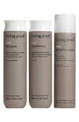 Living Proof No Frizz Value Set/ Full Size Shampoo, Conditioner and Humidity Shield